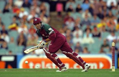 9 Feb 2001: Ricardo Powell of the West Indies in action, during the second Final of the Carlton One Day International Series between Australia and the West Indies, played at the Melbourne Cricket Ground in Melbourne, Australia. Mandatory Credit: RobertCianflone/ALLSPORT